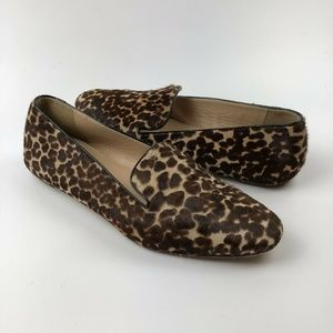 J Crew Darby Calf Hair Loafers 6.5 Flats Slip On